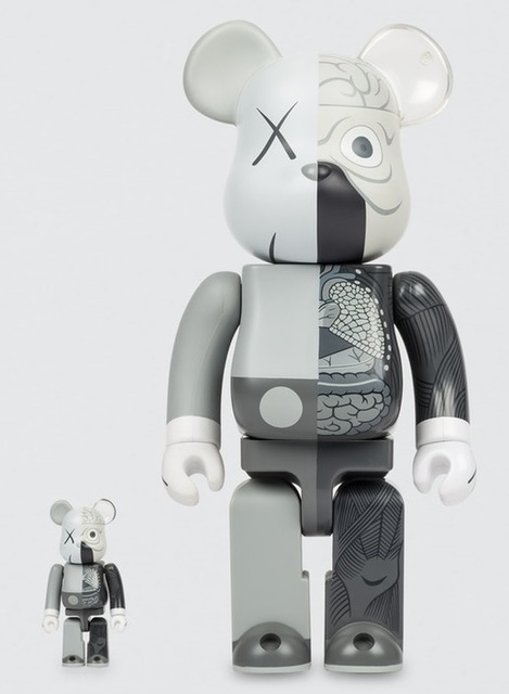 KAWS, 'Dissected Companion: Bearbrick 400% & 100% (Grey)', 2010, Lougher Contemporary