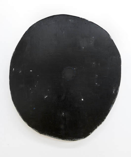 , 'Black with one black circle,' 2018, Marc Straus