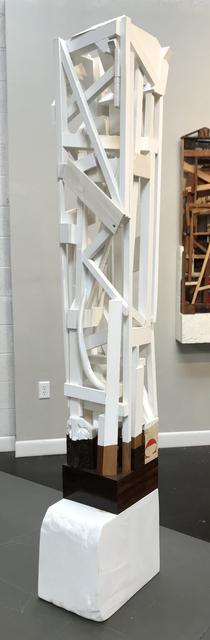Trent Burkett, 'Construction Study #5', 2016, Sculpture, Marble, paint, wood, metal, found object & dammar resin, JAYJAY