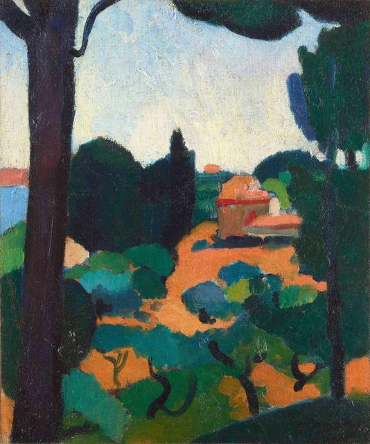 , 'Paysage à Cassis,' 1907, Stoppenbach & Delestre