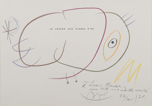 Joan Miró, 'Le lézard aux plumes d'or', 1971, BAILLY GALLERY