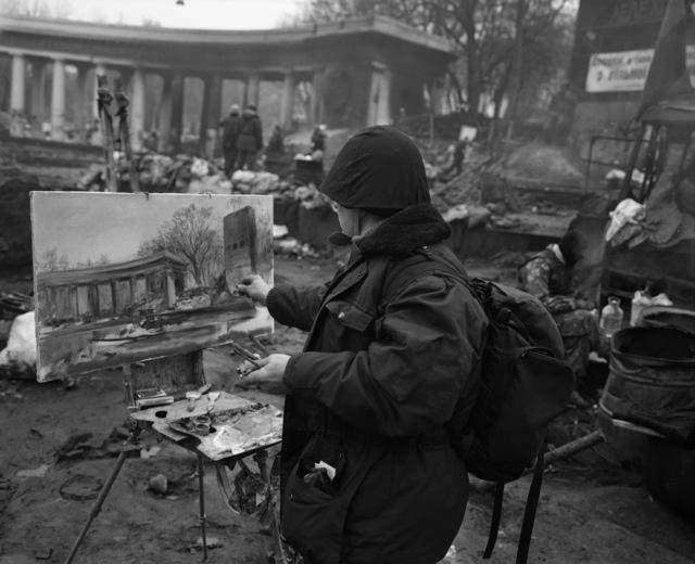 , 'Untitled, Painter (Kiev, 11 February),' 2014, Meislin Projects