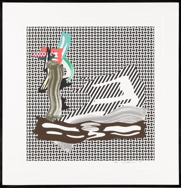 Roy Lichtenstein, 'Brushstroke on Canvas', 1989, Fine Art Mia