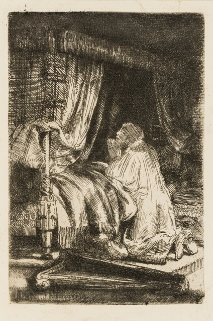 Rembrandt van Rijn, 'David at Prayer', 1652, Forum Auctions