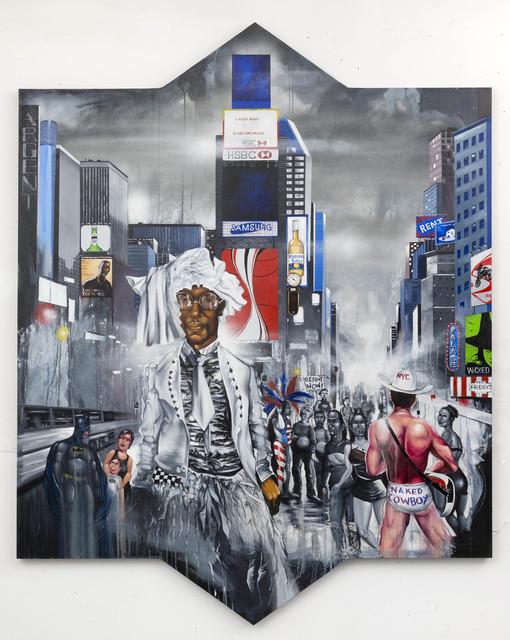 , 'Masquerade, W.H. in Times Square,' 2017, P.P.O.W