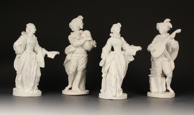 , 'Four biscuit figures,' ca. 1772, Michele Beiny Inc.