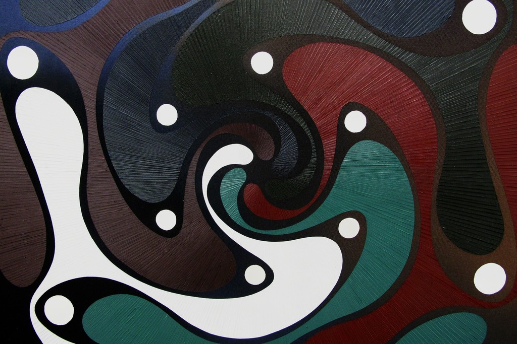 Giacomo Santiago Rogado, Crest 1(Detail), 2017, mixed media on cotton, 200x120 cm
