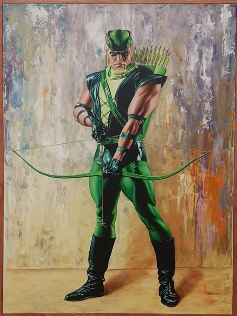 Giovanni Confortini, 'Super Hero, Robin Hood', 2017, Painting, Oil on canvas, Galleria d'Arte Martinelli