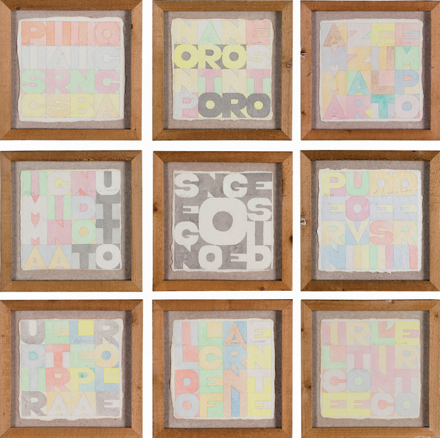 , 'Nove quadrati,' 1979, Dep Art