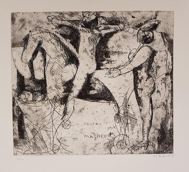 Marino Marini, 'Il Teatro delle Maschere', 1956, Wallector