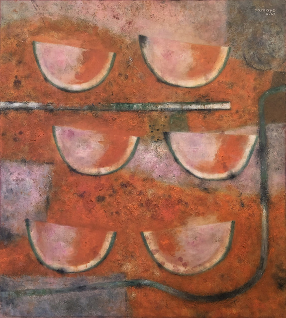 Rufino Tamayo, 'Sandias Rojas', 1967, Painting, Oil and sand on canvas, Art Of The World Gallery