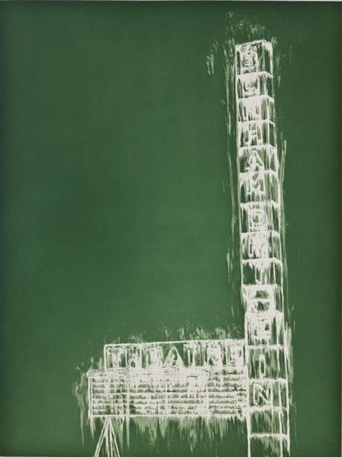 Gary Simmons, 'Bonham Marquee', 2012, Betsy Senior Fine Art
