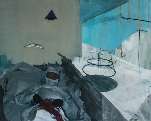 Patrícia Kaliczka, 'Pyramid Surgical Assistant --- Piramis műtőasszisztens', 2012, Painting, Oil on canvas  ||  olaj, vászon, VILTIN Gallery