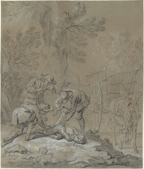 Jean-Baptiste Oudry, 'Ragotin lie par les parents du fou', 1727, National Gallery of Art, Washington, D.C.