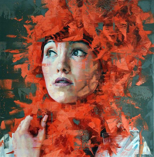 , 'Untitled #redseries20,' 2017, Liquid art system