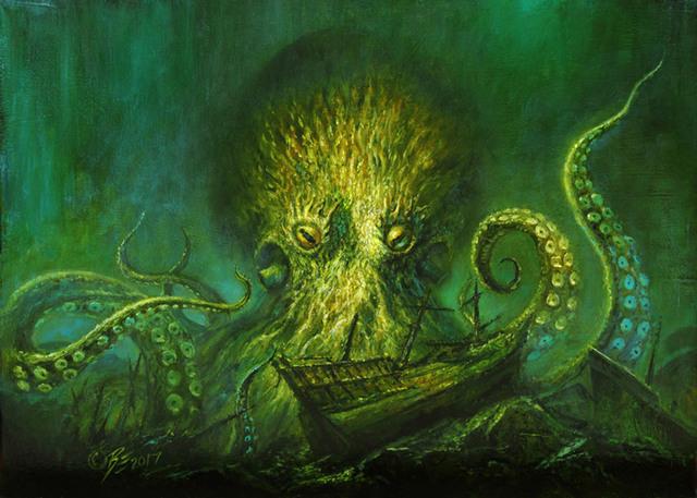 Bob Eggleton, 'Kraken's Lair', 2017, Haven Gallery