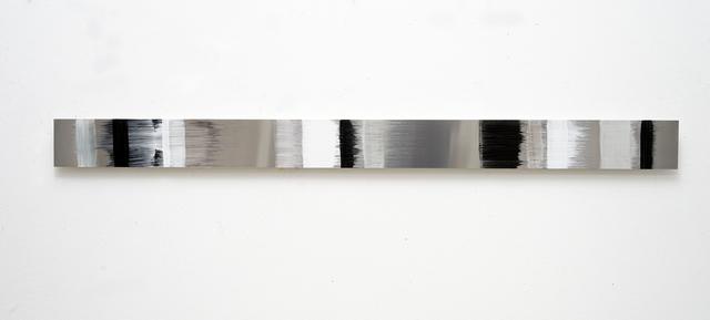 , 'zeitstreifen boneblack,' 2018, Galerie Floss & Schultz