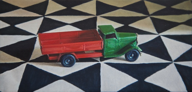 Lucy Mackenzie, 'Toy Truck on a Printed Cloth', 2012, Nancy Hoffman Gallery