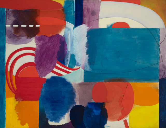Fred Mitchell (b. 1923), 'Battery Park Hallucination', 1965-1967, Painting, Oil on canvas, Hollis Taggart