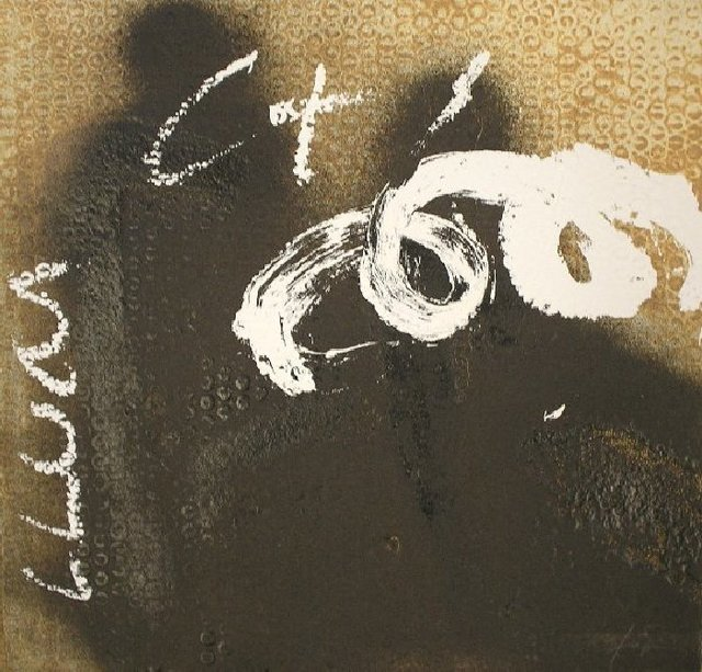Antoni Tàpies, 'Espiral sobre negre', 1998, Print, Etching and carborundum, Nicholas Gallery