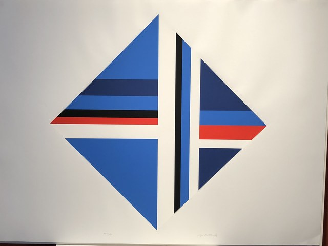 Ilya Bolotowsky, 'Red Blue square', 1970, Anders Wahlstedt Fine Art