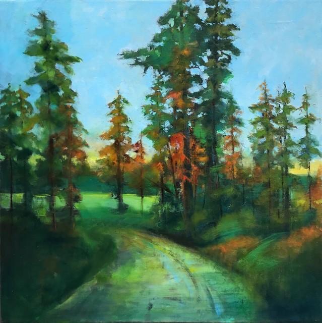 Stuart Slind, 'Forest Road, Early Fall', 2018, Bau-Xi Gallery