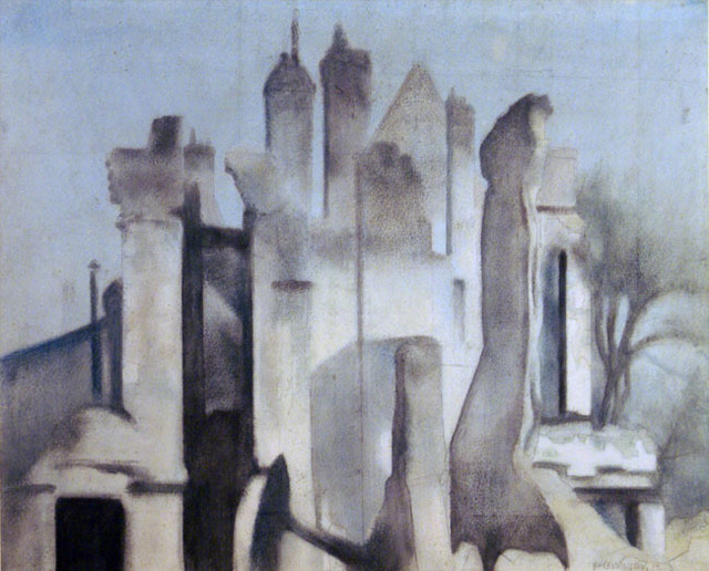 , 'Ruins of War,' 1919, Osborne Samuel