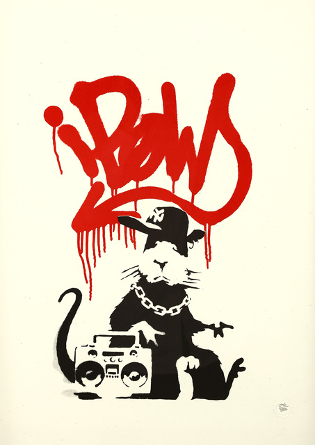 Banksy, 'Gangsta Rat (Red)', 2004, Chiswick Auctions