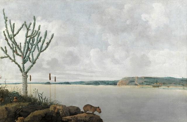 , 'View of the Rio São Francisco Brazil with Fort Maurits en a capibara,' 1639, Rijksmuseum