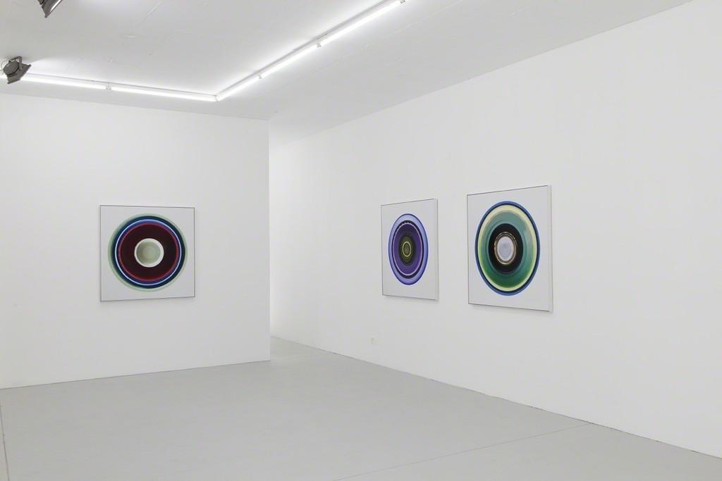 left to right: White Kokomo L2, White Kokomo L3, White Kokomo L4 (all 2015, 4C on Kodak Endura, 110 x 110 x 5 cm, Ed. of 3)