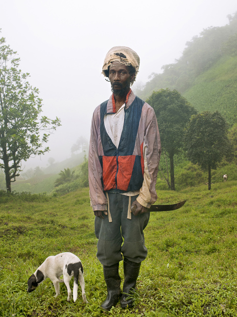 """, '""""The farmer and his dog, Horace Rodgers"""" Garifuna St-Vincent serie,' 2015, Espace D'art Contemporain 14N 61W"""