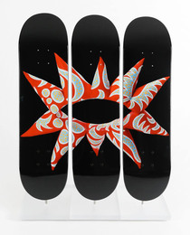 Flowering Heart Triptych Skate Deck
