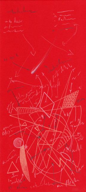 , 'Schematics for the future (red),' 2018, CuratorLove