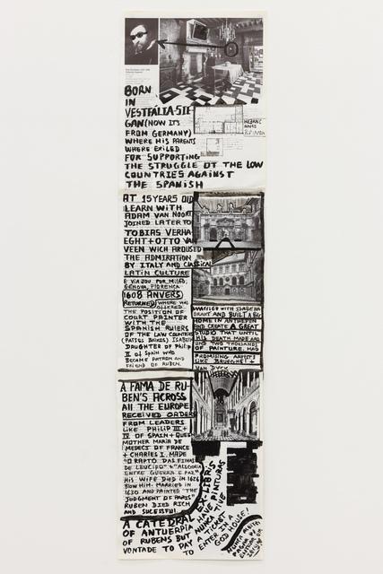 """, '""""Comer papel mastigado - o desejo de compreender o velho continente para cuspir a sua história / Eating chewed paper - the desire to understand the old continent to spit its story"""" Untitled 19,' 2014, Múrias Centeno"""
