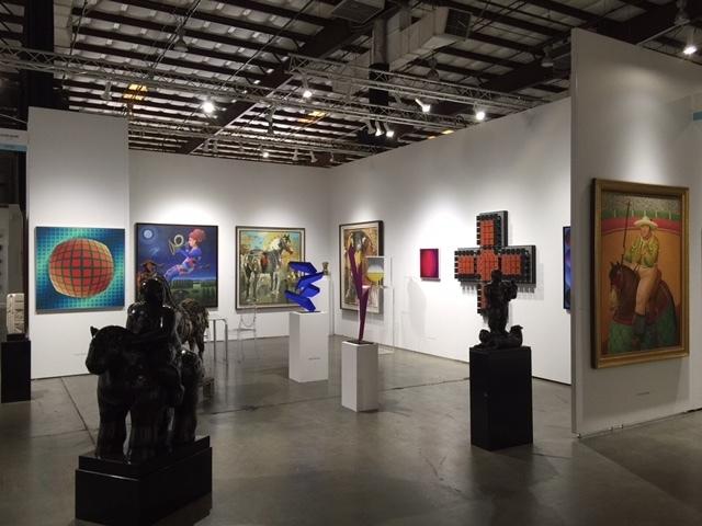 Left to Right: - Victor Vasarely - Carmelo Nino - (2) Alirio Palacios - Carlos Cruz Diez - Jesus Rafael Soto  - Fernando Botero  Bronze Figurative Sculptures: - (2) Fernando Botero