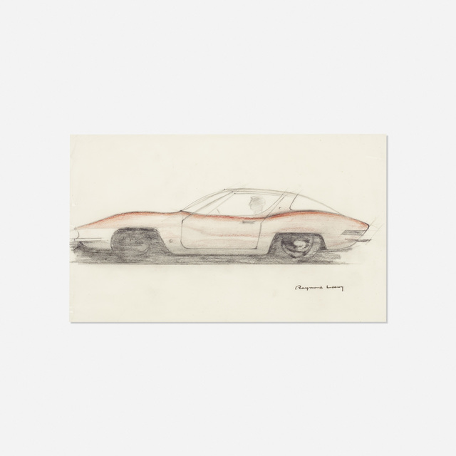 Raymond Loewy | concept sketch for the Studebaker Avanti (c