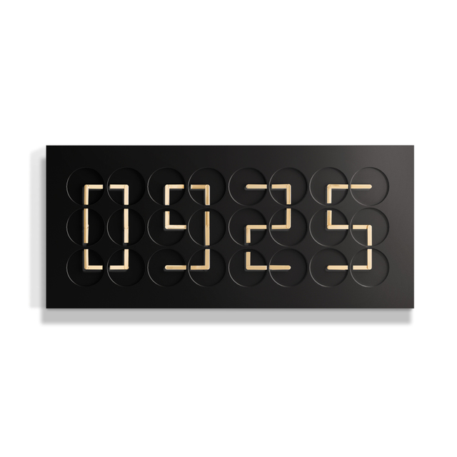 Humans Since 1982, 'ClockClock 24 Golden Hands Black ', 2018, Dillon + Lee