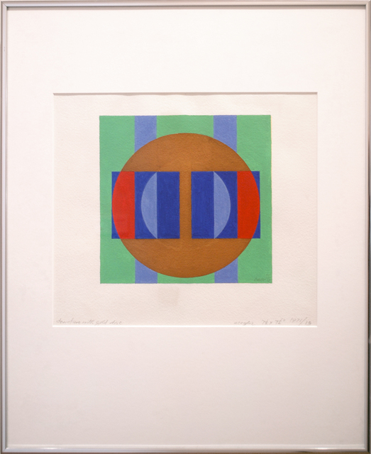 , 'Structure with Gold Disc,' 1971, Peyton Wright Gallery