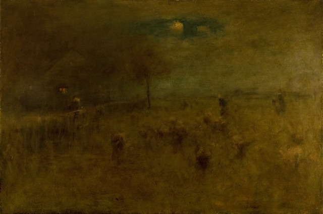 George Inness, 'Moonrise, Montclair', 1893, Painting, Oil on anvas, Montclair Art Museum