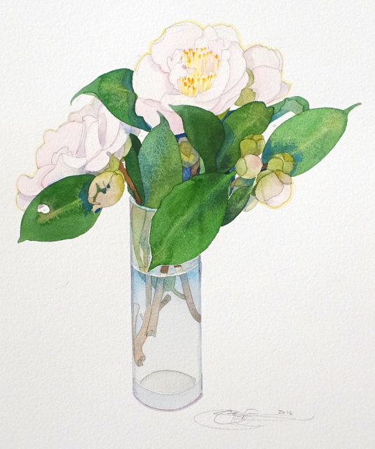 , 'Camellias I,' , The Bonfoey Gallery