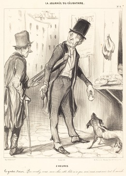 Honoré Daumier, '2 heures', 1839, National Gallery of Art, Washington, D.C.