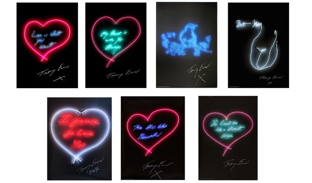 Tracey Emin, 'Set of Seven Neon Prints', 2015, Lougher Contemporary