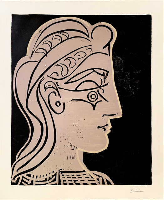 Pablo Picasso, 'Tete de Femme de profil', 1959, Fairhead Fine Art Limited