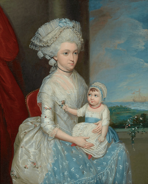 , 'Portrait of Margaret Whaley Hurst and her Daughter, Frances,' ca. 1782, M.S. Rau Antiques