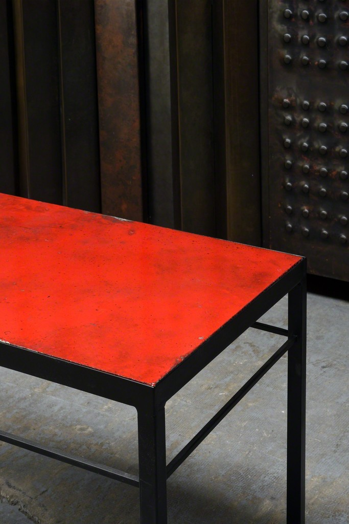 """Volvic Rouge III"" dining table,"
