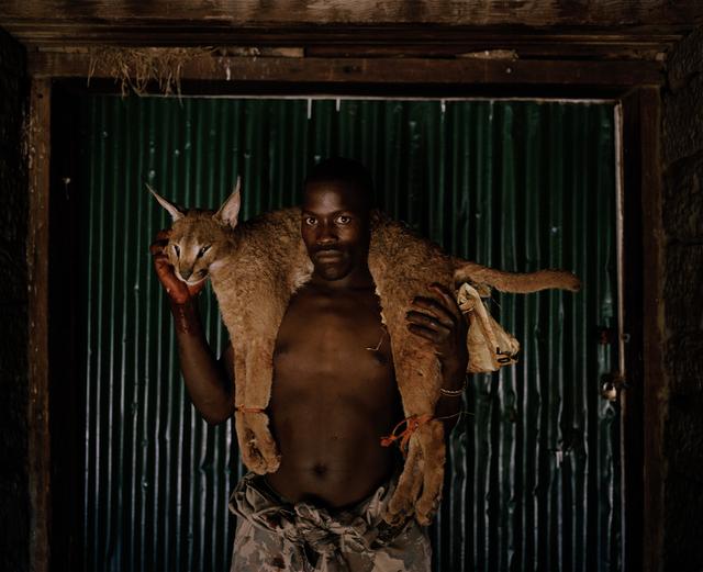 , 'Xhosa Huntsman with Lynx #1, South Africa,' 2012, Francesca Maffeo Gallery