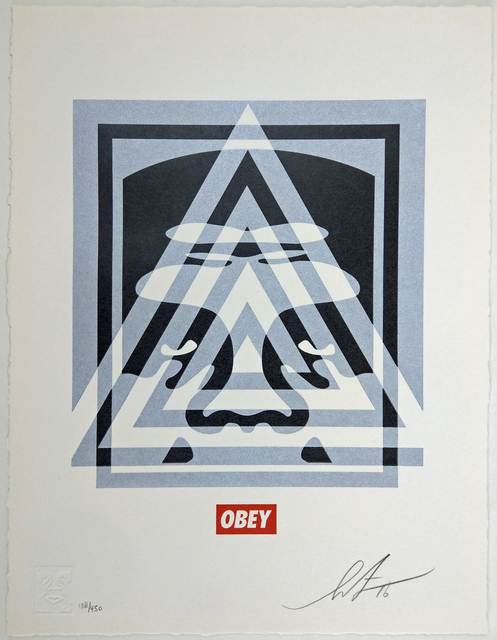 Shepard Fairey (OBEY), 'Pyramid Top Icon', 2016, New Union Gallery