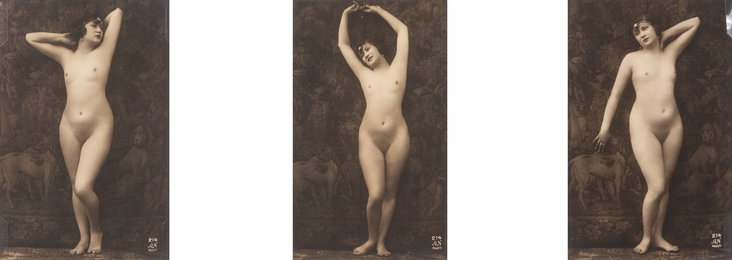 Posed Nude Tripych (3 works)