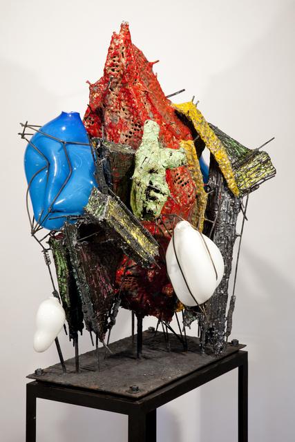 Raymon Elozua, 'R&D VI RE-12-alter-1', 2014, Sculpture, Ceramic, glaze, steel and glass, Ferrin Contemporary