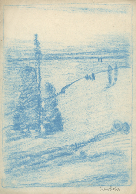 , 'Tree Composition (Hudson River in Background),' ca. 1905, Sullivan Goss
